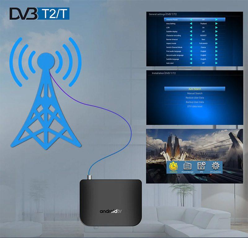 mecool m8s plus dvb-t2 s905d android 7.1 1gb/8gb tv box - có ăng ten