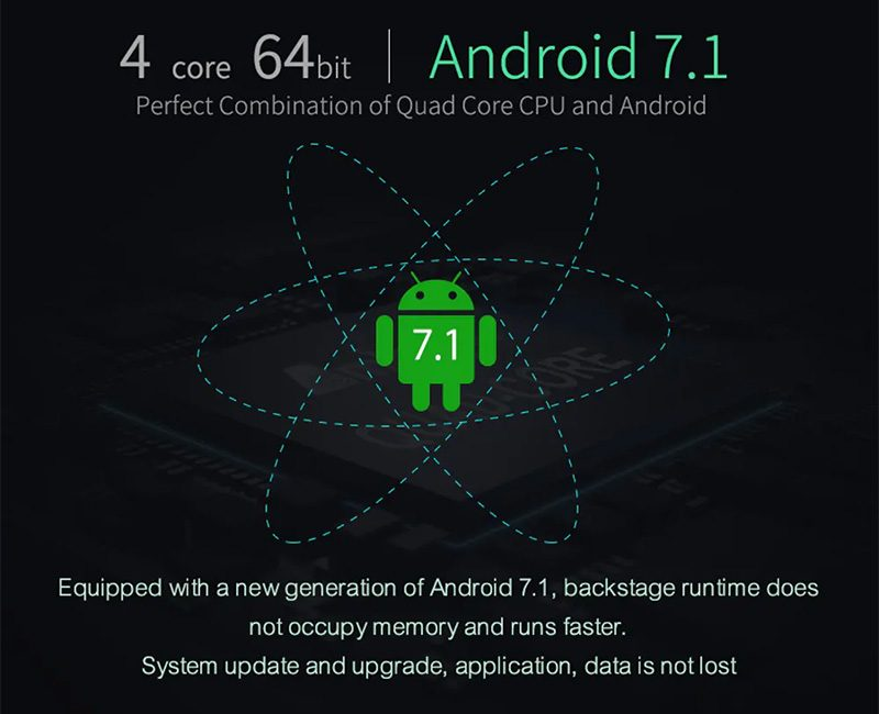 mecool m8s plus dvb-t2 s905d android 7.1 1gb/8gb tv box - android 7.1