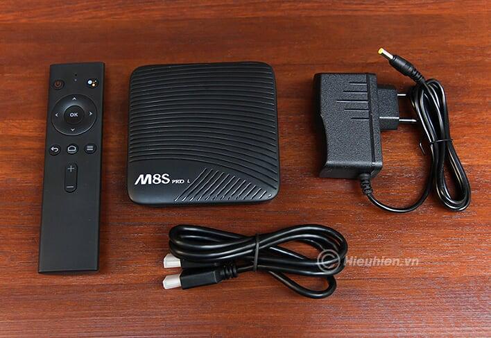 mecool m8s pro l atv 7.1, amlogic s912 3gb/32gb, voice remote tìm kiếm bằng giọng nói - trọn bộ sản phẩm