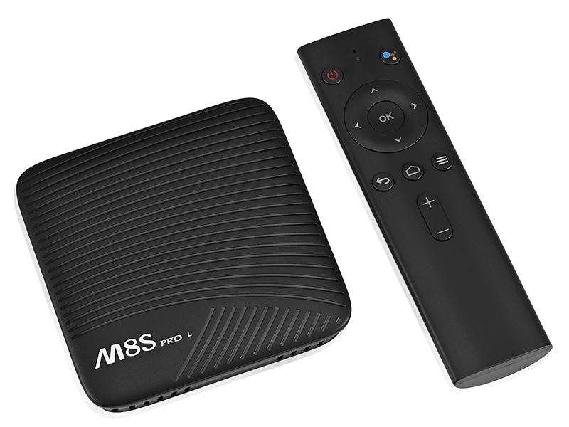 mecool m8s pro l atv 7.1, amlogic s912 3gb/32gb, voice remote tìm kiếm bằng giọng nói - box kèm remote voice