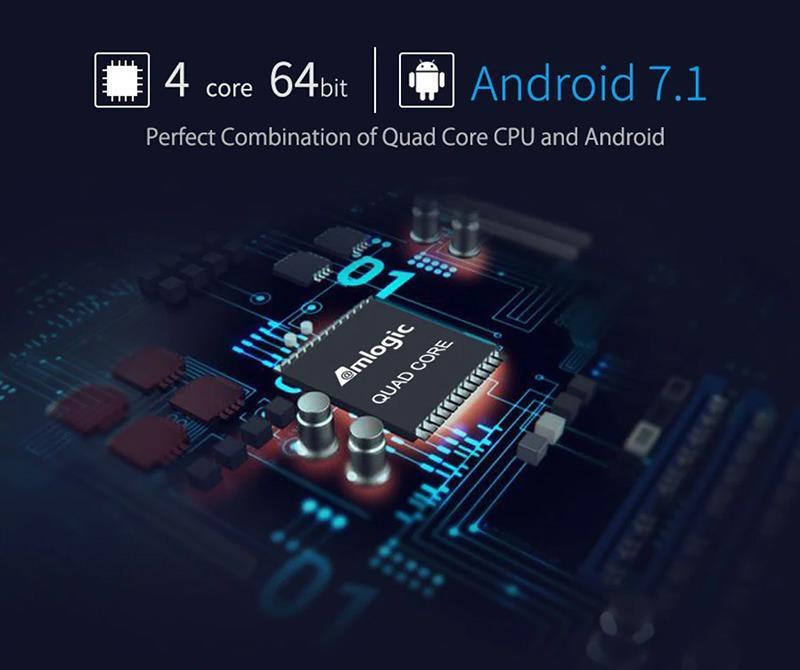 mecool m8s pro plus atv 7.1 s905w 2gb/16gb, có voice remote tìm kiếm bằng giọng nói - android 7.1