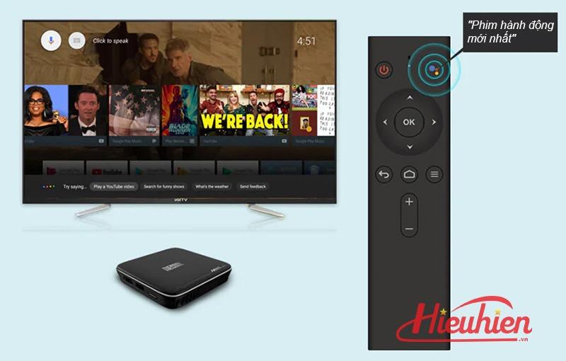 mecool m8s pro plus atv 7.1 s905w 2gb/16gb, có voice remote tìm kiếm bằng giọng nói - voice remote