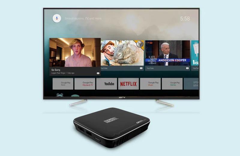 mecool m8s pro plus atv 7.1 s905w 2gb/16gb, có voice remote tìm kiếm bằng giọng nói - giao diện android tv