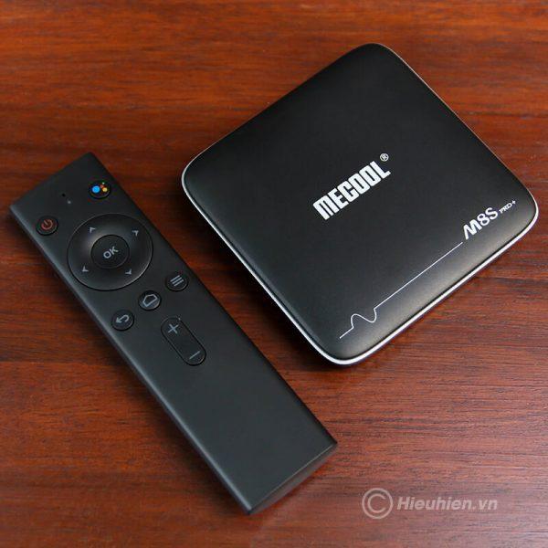 mecool m8s pro plus atv 7.1 s905w 2gb/16gb, voice remote tìm kiếm bằng giọng nói