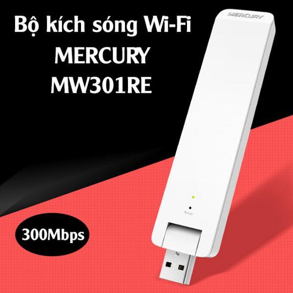mercury mw301re - bộ kích sóng wifi tốc độ 300mbps