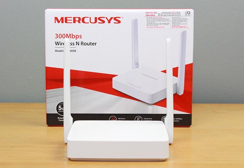 mercusys mw305r - bo phat wifi khong day toc do 300mbps, 2 ang ten 12