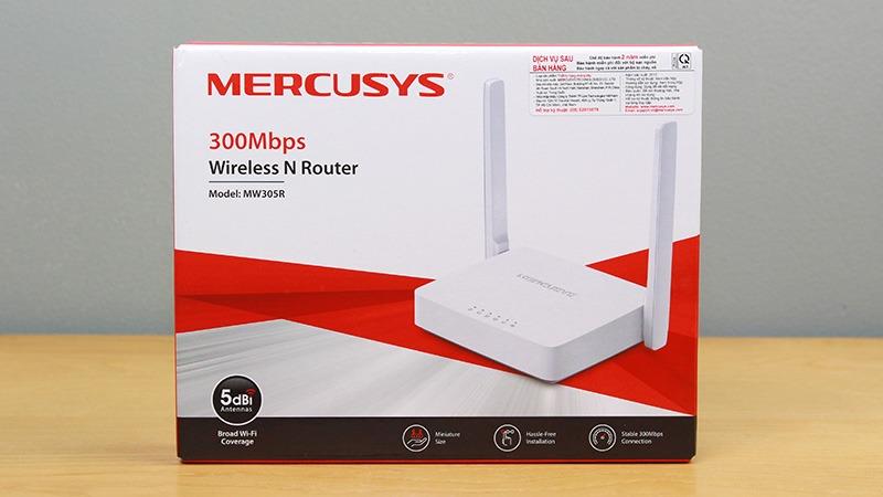 mercusys mw305r - bo phat wifi khong day toc do 300mbps, 2 ang ten 13
