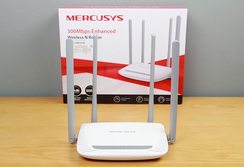 mercusys mw325r - bo phat wifi khong day toc do 300mbps, 4 ang ten 13