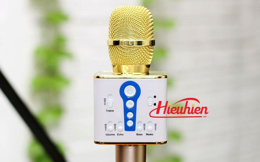 micro kem loa m1 chinh hang - mic m1 hat karaoke bluetooth cuc hay 09