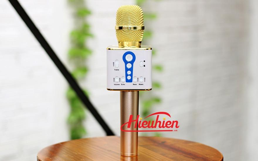 micro kem loa m1 chinh hang - mic hat karaoke bluetooth cuc hay