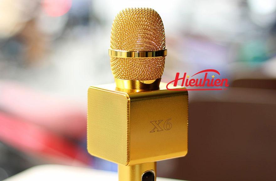 Mic Kèm Loa X6 Chính Hãng, Micro Hát Karaoke Bluetooth Cực Hay 06