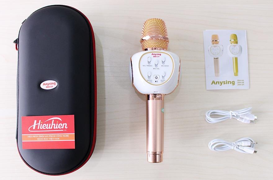 Mic Kèm Loa ZBX-69 Chính Hãng, Micro Hát Karaoke Bluetooth Cực Hay 12