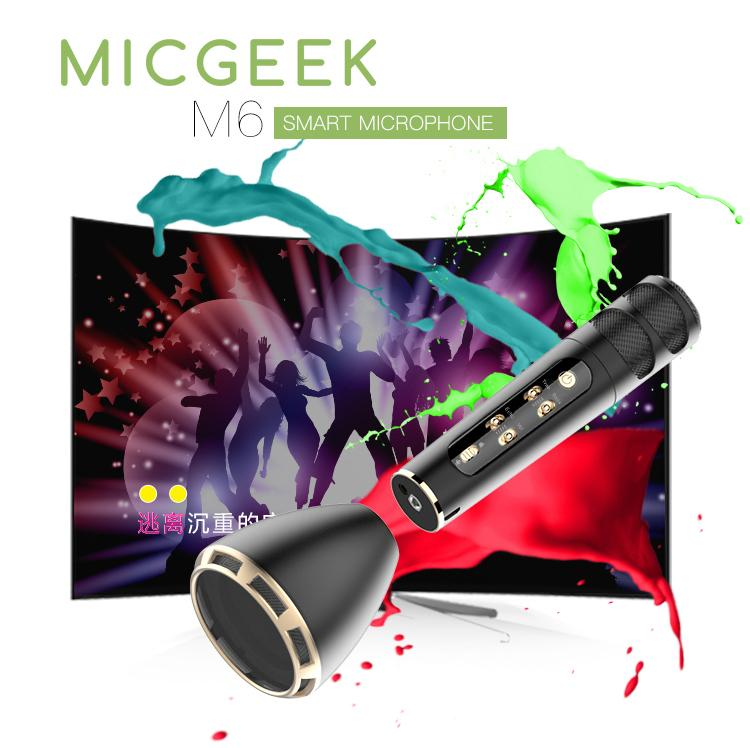 micgeek m6 micro hát karaoke 3 trong 1