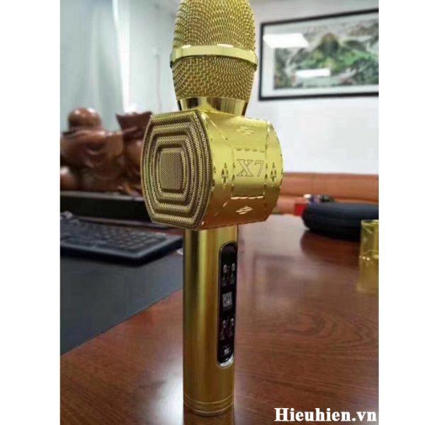 Mic Kèm Loa X7, Micro Karaoke Bluetooth Nhỏ Gọn Hát Cực Hay