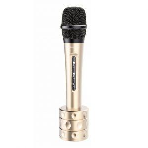 Micro karaoke kèm loa bluetooth iMicrophone chính hãng (cực hay) màu đồng