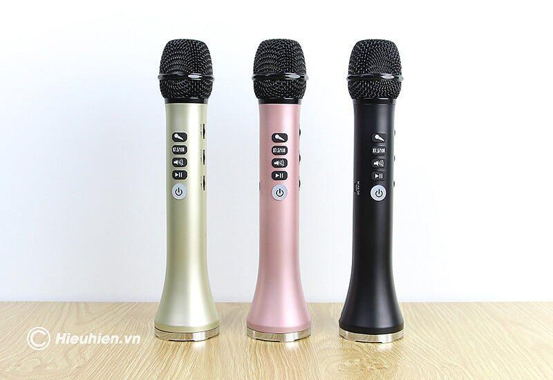 micro karaoke kèm loa bluetooth l-698 có kết nối fm với xe oto - màu sắc nổi bật