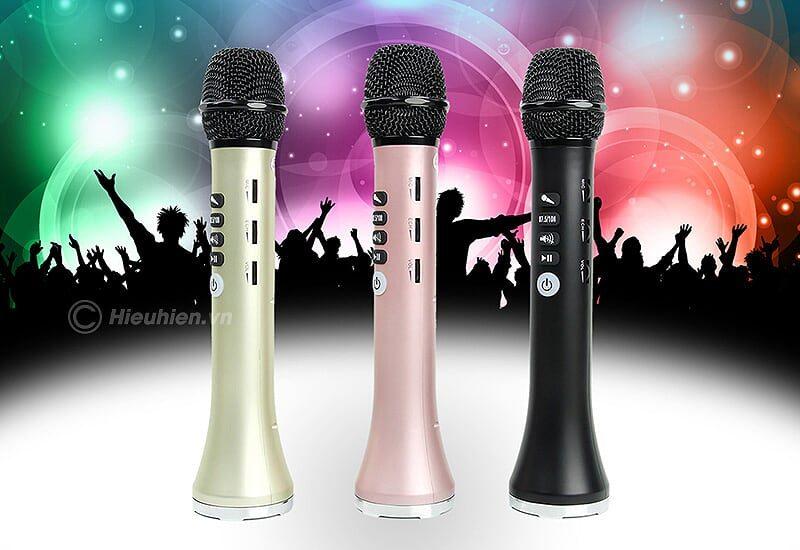 micro karaoke kèm loa bluetooth l-698 có kết nối fm với xe oto - 3 màu