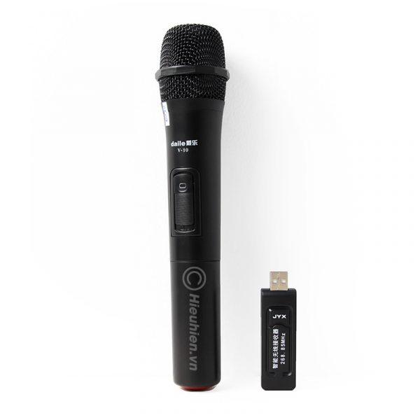 Micro không dây Daile V10 dùng cho loa karaoke xách tay, loa kéo 0