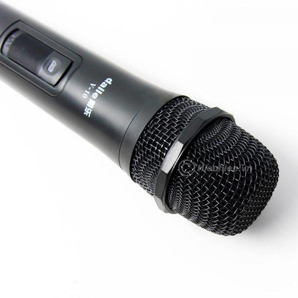 Micro không dây Daile V10 dùng cho loa karaoke xách tay, loa kéo 01