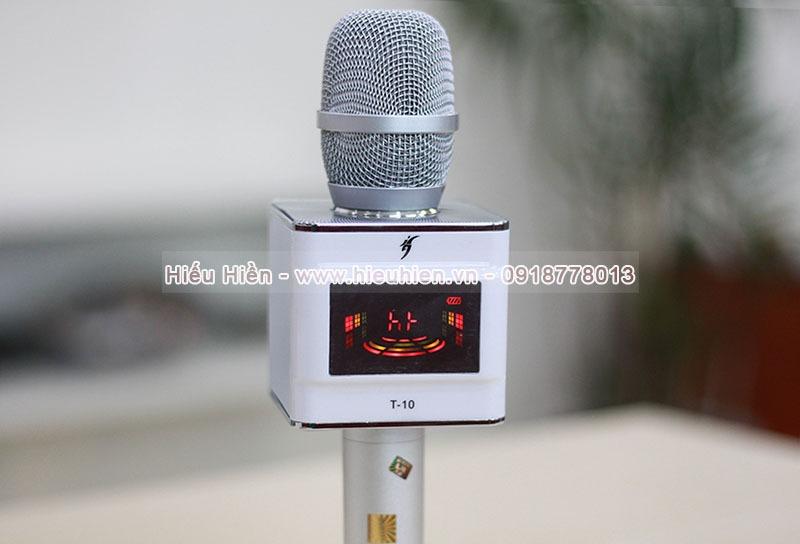 micro karaoke t-10 - micro kem loa hat karaoke tren dien thoai, may tinh bang