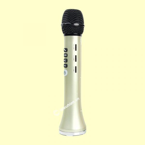 Micro Karaoke kèm loa Bluetooth L-698 có kết nối FM với xe Oto 02