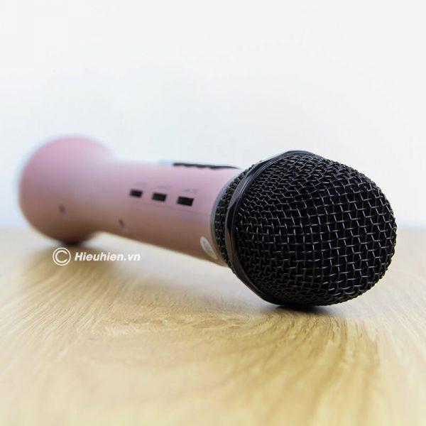 Micro Karaoke kèm loa Bluetooth L-698 có kết nối FM với xe Oto 07