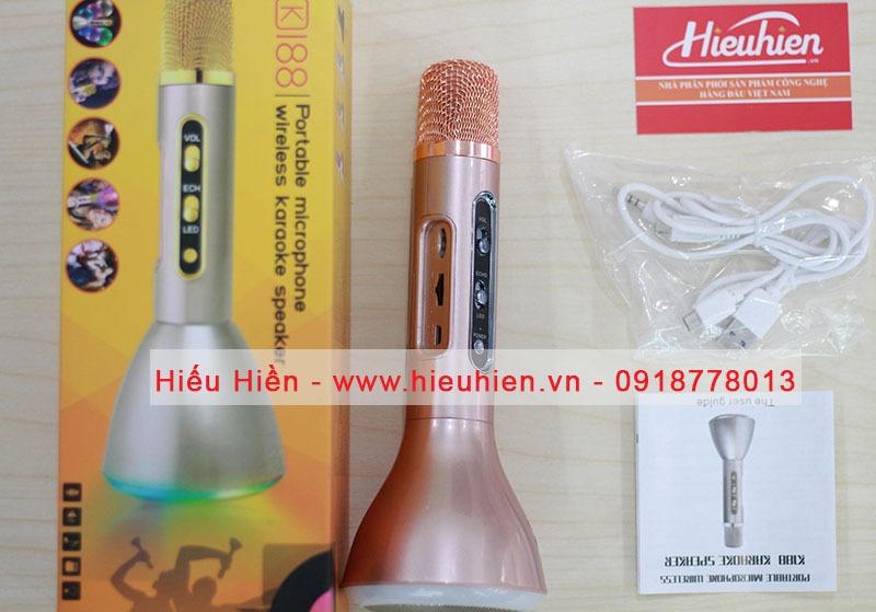 Micro kèm loa karaoke bluetooth K188 06