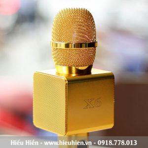 Mic Kèm Loa X6 Chính Hãng, Micro Hát Karaoke Bluetooth Cực Hay 01