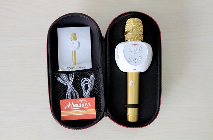 Micro Kèm Loa ZBX-66, Micro Hát Karaoke Bluetooth Cực Hay 09