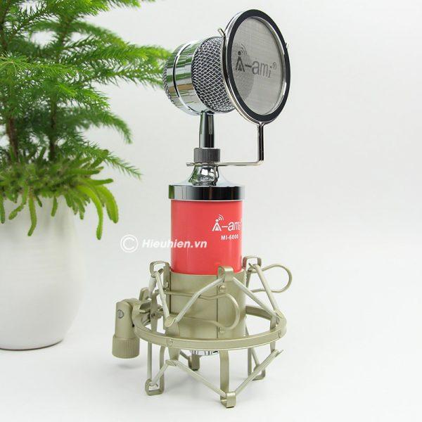 Micro thu âm AMI MI-6000 hát live stream, hát karaoke chất lượng tốt, giá rẻ 02
