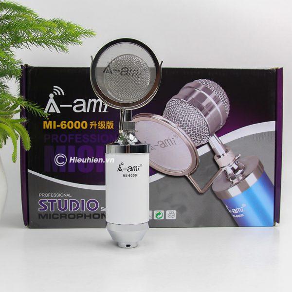 Micro thu âm AMI MI-6000 hát live stream, hát karaoke chất lượng tốt, giá rẻ 09