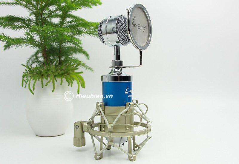 Micro thu âm AMI MI-6000 hát live stream, hát karaoke chất lượng tốt, giá rẻ - màu xanh