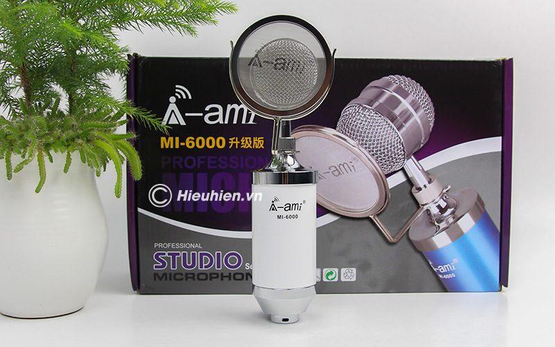 Micro thu âm AMI MI-6000 hát live stream, hát karaoke chất lượng tốt, giá rẻ - hộp