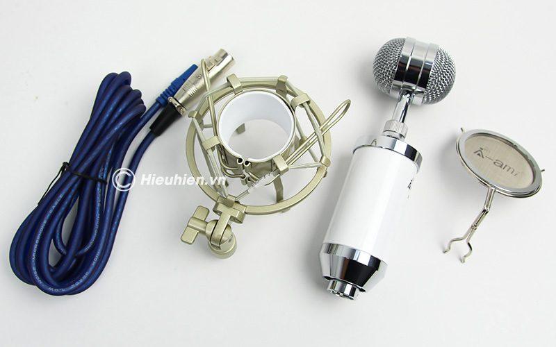 Micro thu âm AMI MI-6000 hát live stream, hát karaoke chất lượng tốt, giá rẻ - phụ kiện