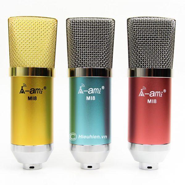 micro thu âm ami mi8 - mic hát karaoke, hát live stream nâng cấp mới 0