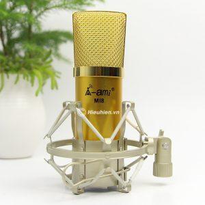 Micro Thu Âm AMI MI8 - Mic Hát Karaoke, Hát Live Stream Nâng Cấp Mới 01