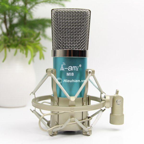 Micro Thu Âm AMI MI8 - Mic Hát Karaoke, Hát Live Stream Nâng Cấp Mới 02