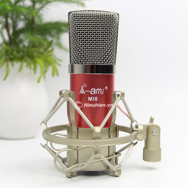 Micro Thu Âm AMI MI8 - Mic Hát Karaoke, Hát Live Stream Nâng Cấp Mới 03
