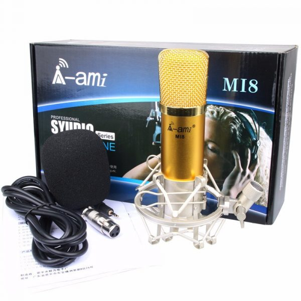 Micro Thu Âm AMI MI8 - Mic Hát Karaoke, Hát Live Stream Nâng Cấp Mới 06