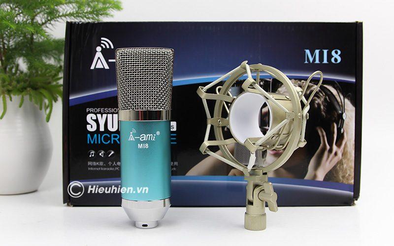micro thu âm ami mi8 - mic hát karaoke, hát live stream nâng cấp mới - mic và shockmout