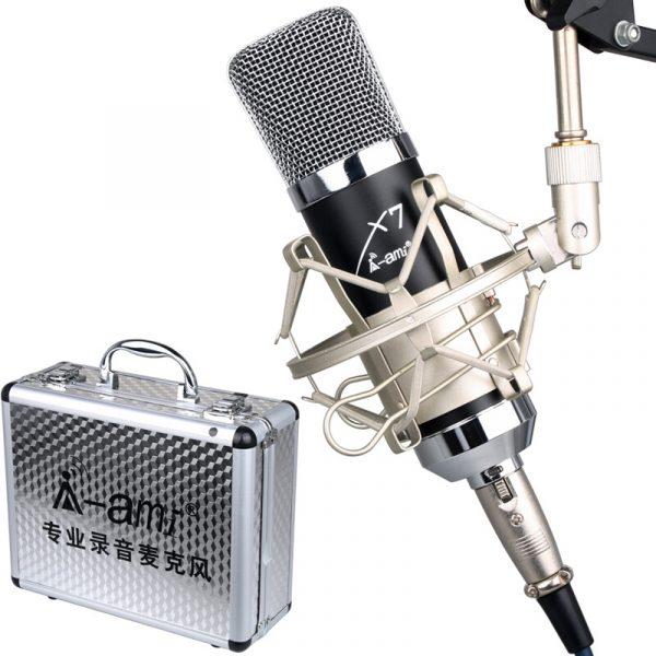 Micro thu âm AMI X7 hát Livestream, hát karaoke chuyên nghiệp