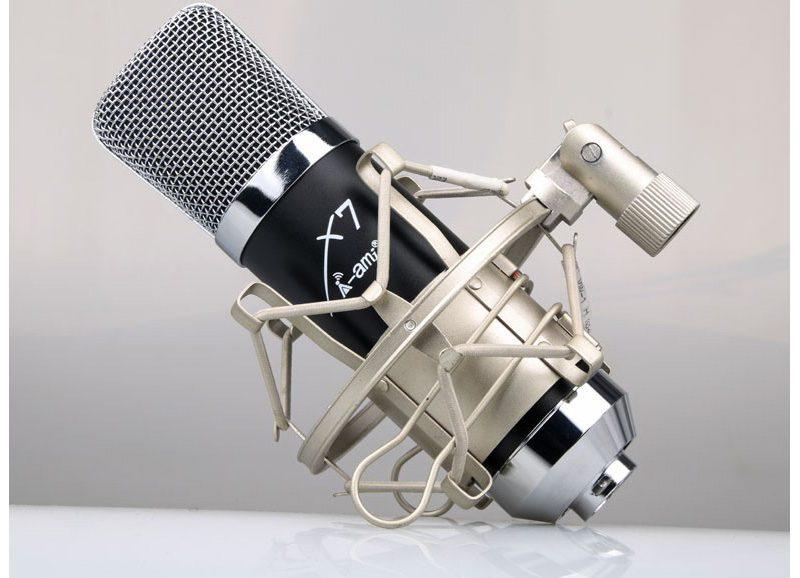 Micro thu âm AMI X7 hát Livestream, hát karaoke chuyên nghiệp - hình 01