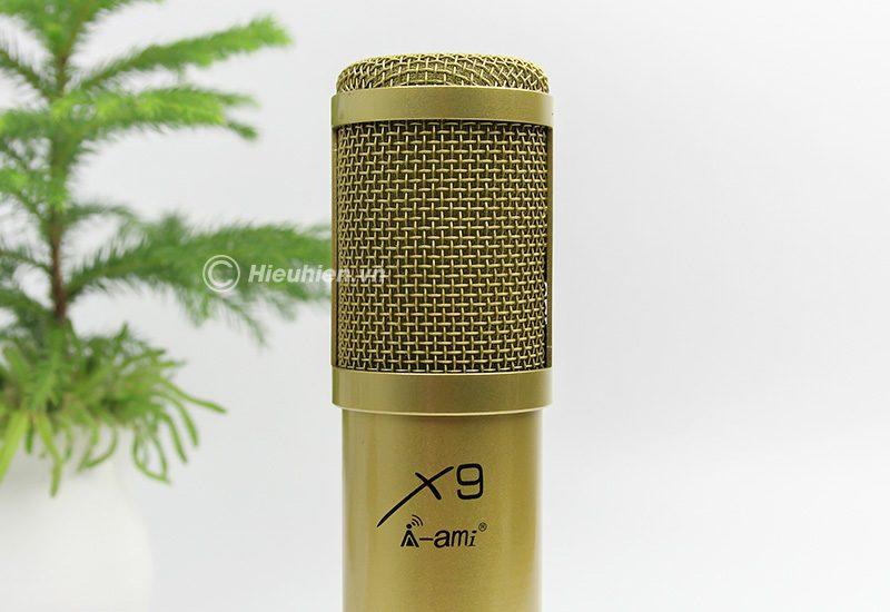 micro thu âm ami x9 hát live stream, hát karaoke chuyên nghiệp - đầu micro