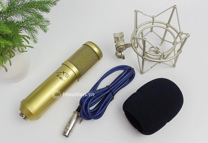 micro thu âm ami x9 hát live stream, hát karaoke chuyên nghiệp - phụ kiện