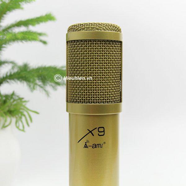 Micro thu âm AMI X9 hát live stream, hát karaoke chuyên nghiệp 03