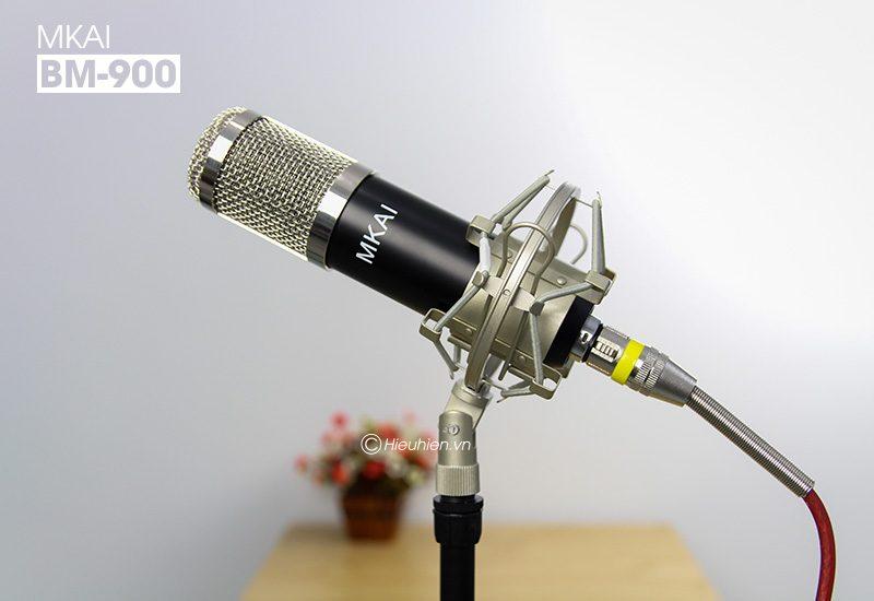 micro thu âm bm-900 mkai hát live stream, hát karaoke giá rẻ - giá đỡ