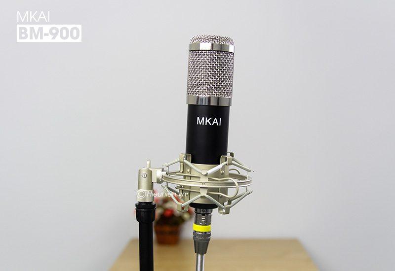 micro thu âm bm-900 mkai hát live stream, hát karaoke giá rẻ - đầu micro