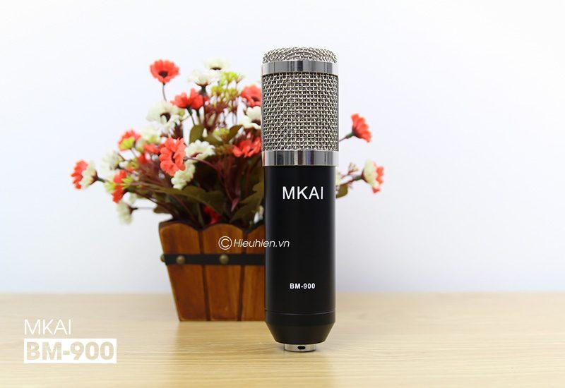 micro thu âm bm-900 mkai hát live stream, hát karaoke giá rẻ - logo mkai