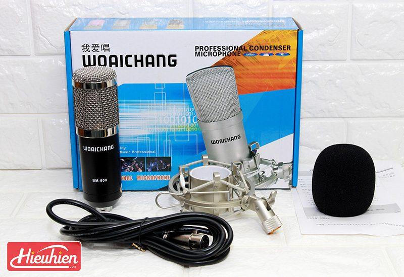 micro thu âm bm-900 woaichang - mic hát karaoke live stream - phụ kiện