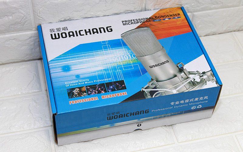 micro thu âm bm-900 woaichang - mic hát karaoke live stream - hộp